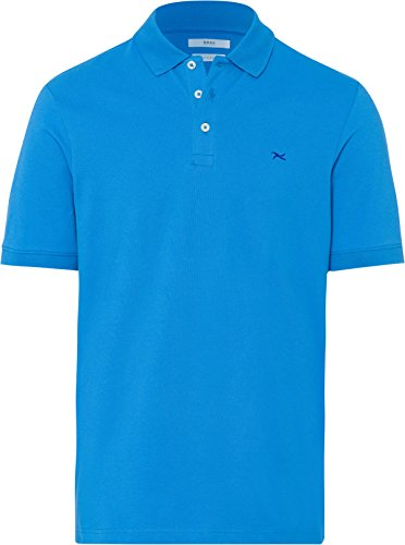 BRAX Herren  Regular Fit Poloshirt, Blau (Heaven 16), XX-Large