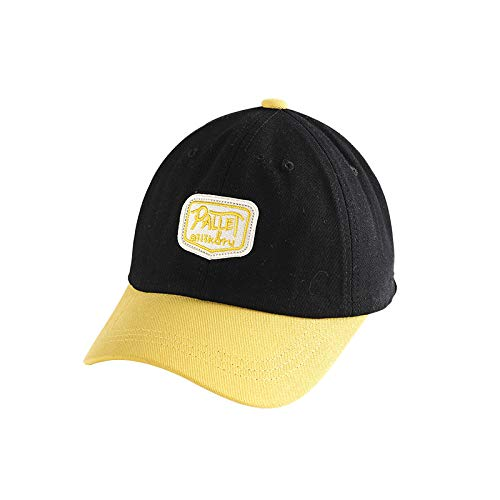 wopiaol Children's hats new Korean version of pure cotton color matching letters baby hats sun shade and sunscreen spring baseball cap tide