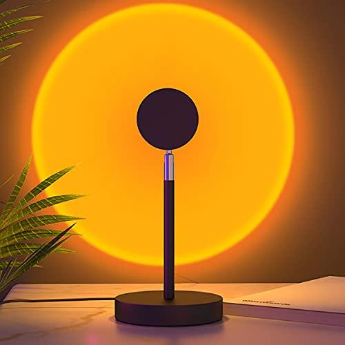 YJSJ USB Lámpara De Puesta De Sol Proyector De Puesta De Sol Atmósfera Estética Luz De Noche Cálida Puesta De Sol Romántica Luz De Resplandor Vlog Fondo Dormitorio Hogar Fiesta Interior
