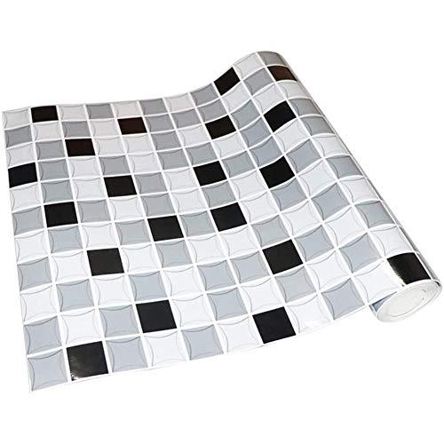 Cestbon Adhesivo de azulejo Modernas, azulejo Decorativo Pegatinas Rollo de Baño/Cocina,Blanco