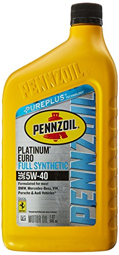 Pennzoil - 550040834 Platinum Euro Full Synthetic 5W-40 Motor Oil (1-Quart, Single-Pack)