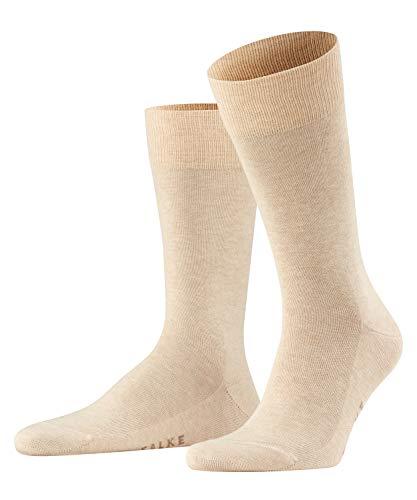 FALKE Herren Socken Family - 94% Baumwolle, 1 Paar, Beige (Sand Melange 4650), 39-42