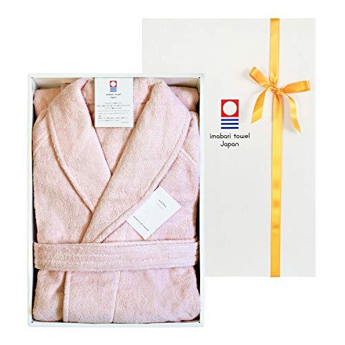 TRANPARAN 今治タオル 認定 バスローブ ホテル仕様 ギフトセット 日本製 (Lサイズ/ピンク)