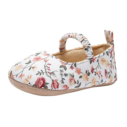 Sapatilhas infantis BAOBAOLAI para bebês meninas, estampa plana, flor, balé, princesa, sapatos baixos Mary Jane