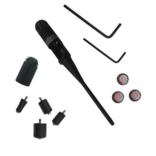 Huntiger BoreSighter Bore Sight kit for 022 to 050 Caliber Rifles Handgun Red Laser