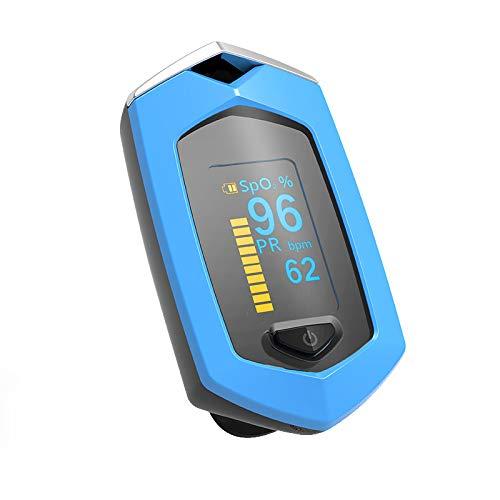 XIUNIA Oxímetro Digital de Dedo Oxímetro de Pulso de Saturación de Oxígeno en Sangre Recargable Spo2 Pr Monitor de Ritmo Cardíaco Familia Esencial