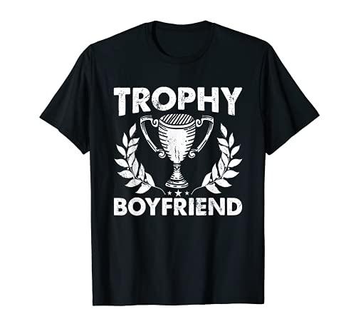Hombre Trofeo Novio Divertido Amigo Orgulloso Novia Camiseta