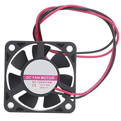 Ventilador de Enfriamiento de CC, Motor Ventilador de Enfriamiento de Plástico Motor de Resistencia a Altas Temperaturas Disipación de Calor 12V 0.09A Hecho de Plástico para Disipación de Calor