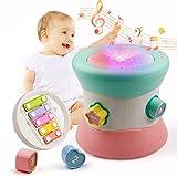 Mini Tudou Baby Musikspielzeug Trommel,Multifunktional Spielzeug Lernen Trommel mit Xylophon Korn Matze Kreativität Lernspiel für frühes Lernen für Kleinkinder und Babys ab 6 Monaten