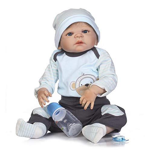 57Cm Realista Reborn Baby Dolls Soft Full Body Silicone Que Se Vea Real Recién Nacido Reborn Baby con Pacificador Hecho A Mano Baby Boys