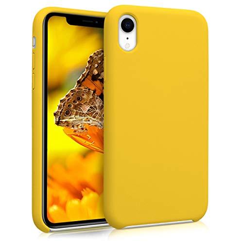 kwmobile Hülle kompatibel mit Apple iPhone XR - Handyhülle gummiert - Handy Case in Vibrant Yellow