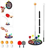 Nobranded 3 in 1 Ping Pong Balls Paddles Set Table Tennis Trainer Ping Pong Training Equipment Kit with Darts...