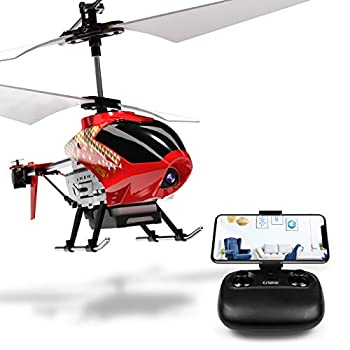 Cheerwing U12S Mini RC Helicopter with Camera Remote Control Helicopter for Kids and Adults  Red