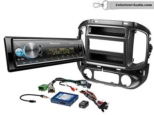 Pioneer MVH-S512BS Single Din Radio Install Kit With Media Player, USB/AUX, Built-In 13 Band Equalizer Fits 2015-2017 Chevrolet Colorado, GMC Canyon