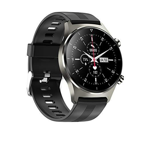HDSJJD Smartwatch, Reloj Luminoso Bluetooth con Presión Arterial, Frecuencia Cardíaca, Oxígeno De Sangre, Monitor De Sueño Y Múltiples Modos De Ejercicio, Compatible con Android, iOS,F