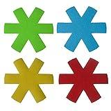 HAOT 4 Piezas de Pascua en Forma de Maceta con Forma de Maceta Protectores de Platos Soportes Almohadillas antiarañazos Divisores Esteras para Tazas Posavasos para Beber Decoraciones de Mesa de c