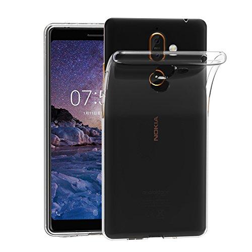 iVoler Cover Compatibile con Nokia 7 Plus, Silicone Case Molle di TPU Trasparente Sottile Custodia