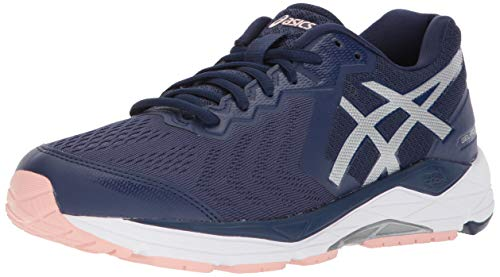 ASICS Women's Gel-Foundation 13 Running Shoes, 8M, Indigo Blue/Silver/Seashell PI