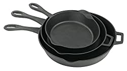 "Pre-seasoned Cast Iron Skillets, set of 3. <a href=""https://www.amazon.com/gp/product/B00WI7CJKM/ref=as_li_qf_asin_il_tl?ie=UTF8&amp;tag=ris15-20&amp;creative=9325&amp;linkCode=as2&amp;creativeASIN=B00WI7CJKM&amp;linkId=3991e4c7d5cafd526a901c016fcd7ec7"" target=""_blank"" rel=""nofollow noopener noreferrer""><span style=""text-decoration: underline; color: #0000ff;""><strong>Available on Amazon.</strong></span></a>"