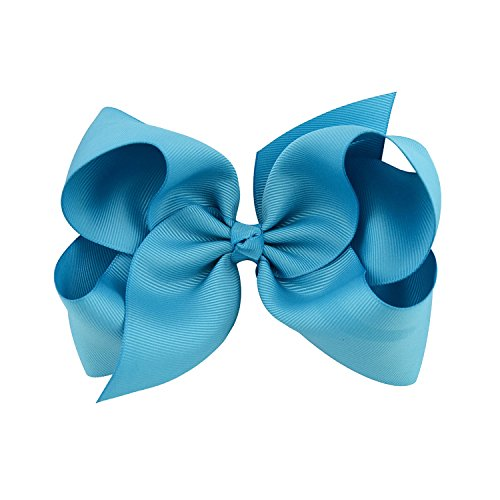 Bébé filles arcs Clip Kids enfants ruban papillon forme Bend Snap barrette barrettes pour cheveux Clair Bleu