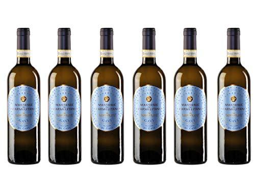 6er Vorteilspaket Gavi di Gavi Masseria dei Carmelitani 2019 | Weißwein aus Piemont | trocken | 6 x 0,75l
