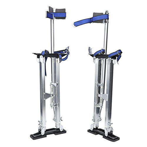 SUPERFASTRACING 24-40 inch Drywall Stilts Aluminum Tool Silver Stilt for Painting Painter Taping Silver