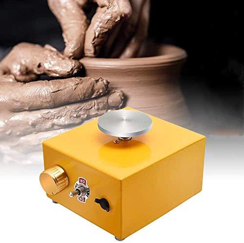 4YANG Mini rueda de cerámica Mini máquina de cerámica eléctrica de la placa giratoria de 6.5cm y 10cm 0-300r / min ≤ 60dB Herramienta de arcilla DIY para trabajo cerámico Cerámica Clay Art Craft