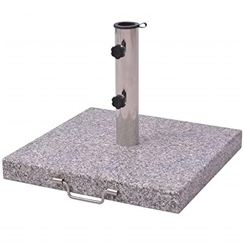 vidaXL Pied de Parasol Granit Base de Parasol Support Socle de Parasol 45 cm