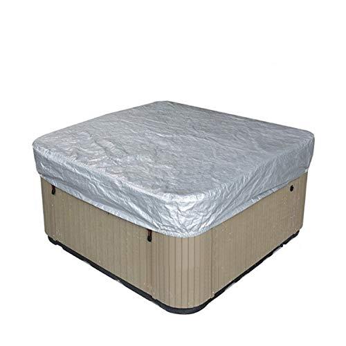 YXNN Cubierta para bañera de hidromasaje, impermeable, cuadrada, para exterior, parte de piscina, cubierta dura, resistente al agua, poliéster, fundas de spa (color: negro, tamaño: 218 x 218 x 30 cm)