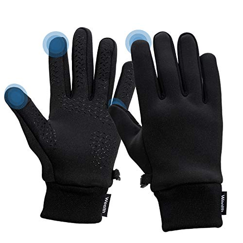 Weelth Touchscreen-Handschuhe,rutschfeste,Leichte,Elastische Outdoor-Sporthandschuhe,Geeignet zum Laufen,Fahren,Wandern,Skifahren,Radfahren(S)