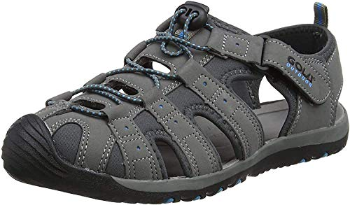 Gola Shingle 3, Sandalias Atléticas, Hombre, Gris (Grey/black/blue), 42 EU