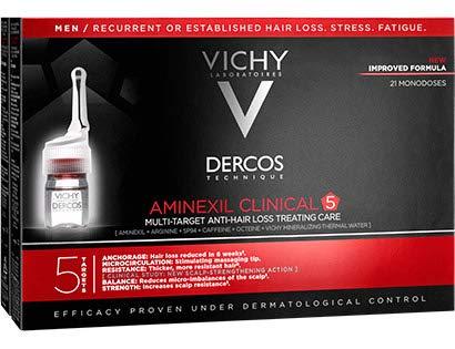 Vichy Dercos Aminexil Clinical 5 Fiale trattamento anti-perdita di capelli per gli uomini 21x6ml
