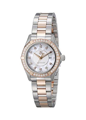 TAG Heuer Women's WAP1452.BD0837 Aquaracer Analog Display Swiss Quartz Rose Gold Watch