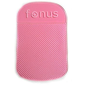 Pink Car Dash-Board Mat Non-Slip Sticky Holder Mount Dash Phone Grip M6R Compatible with Motorola Droid Maxx 2 - Nokia 8 3.1 Plus - OnePlus 5 5T 6T - Razer Phone 2 - RED Hydrogen One