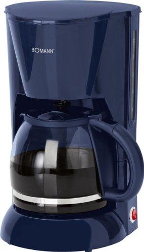 Kaffeemaschine Glaskanne 1,5 Liter Wasserstandsanzeige Kaffeeautomat 12 Tassen (Herausnehmbarer Filtereinsatz, Warmhalteplatte, 900 Watt, Blau)