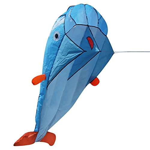 Domybest 3D Drachen Weiche Parafoil Riesen Delphin Kite Outdoor Sport Delfine Drachen