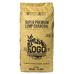 PREMIUM BLEND: 35-pound bag of all-natural hardwood lump charcoal that's perfect for everyday smoking and grilling (For long cooks, try FOGO Super Premium) EXCELLENT FOR KAMADO GRILLS: Lump charcoal that's perfect for ceramic style Kamado Grills like...