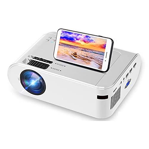 GAOword Proyector WiFi Compatible con Bluetooth 1080P, Compatible con Videojuegos TV Stick, HDMI, USB, TF, VGA, AUX, AV