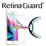 retinaguard anti-blueライト強化ガラススクリーンプロテクターfor iPhone 8Plus–SGS & Intertekテスト–ブロック過剰な有害なブルーライト低減、眼精疲労と(白枠)