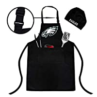 Northwest Philadelphia Eagles Adjustable Water-Resistant Apron, Chef hat, Two Spacious Pockets, Unisex, Fully Reflecting The Attributes of Fans (Philadelphia Eagles Apron)