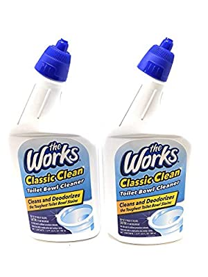The Works Classic Clean Toilet Bowl Cleaner 2 Bottles 24 Fl Oz Each