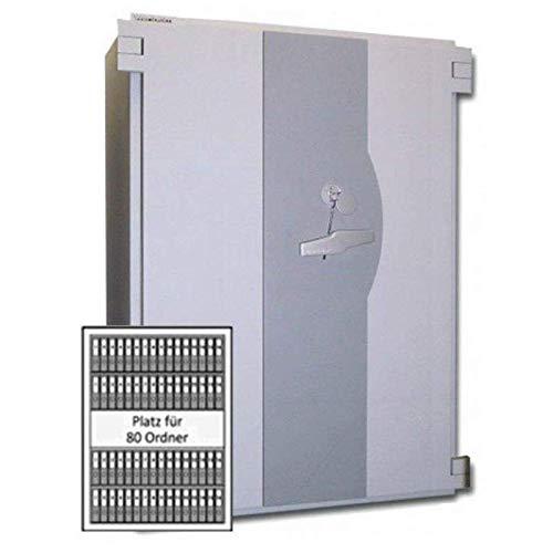 Wertheim Wertschutzschrank EWS1904KB, 2 x Doppelbartschloss umstellbar (mit je 1 Schlüsselträger, 2 Schlüsselbärte), Grad 5KB nach EN 1143-1, H188.3xB141.5xT72.5 cm, 2720 kg