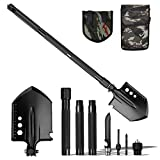 Camping Shovels Kit Foldable, Multitools Military Folding Survival Shovel Portable Camping Shovel Kit