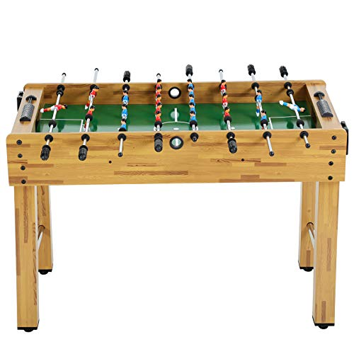 48-inch Foosball Table Game Table W/2 Balls 2 Cup Holders Multi Game Table Indoor Soccer Table for Game Rooms, Arcades, Bars, Parties, Family Night or As a Gift for Kids