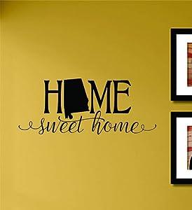 Home Sweet Home Alabama State Vinyl Wall Art Decal Sticker