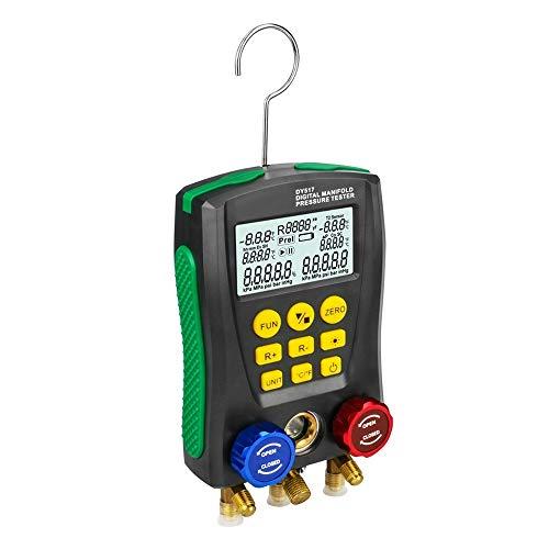 Colector digital de refrigeración, probador de presión de vacío HVAC, kit de medidor de diagnóstico Druck Temp Dignostic Gauge Kit para mantener aire acondicionado refrigerador