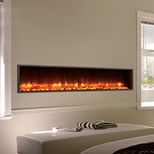 DYNASTY DY-BT63 Built-in Linear Electric Fireplace, 63-Inch