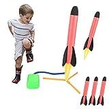 Funmo Juguete Lanzador de Cohetes, Juguete de misiles, Cohete Stomp, Juguete de Lanzamiento de Cohete al Aire Libre con 3 Cohetes, Juegos al Aire Libre para niños y Adultos