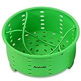 Avokado Steamer Basket for Stove Top Pot or Pressure Cooker - Perfect Egg, Broccoli, Veggie Silicone Steamer and Strainer - BPA Free, FDA Food Grade - 7.75in Wide - No Divider