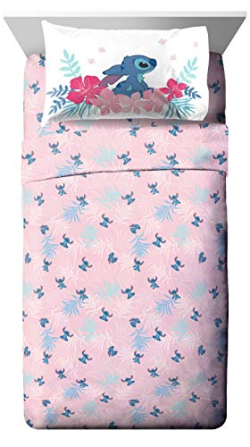 Jay Franco Disney Lilo & Stitch Paradise Dream Full Sheet Set - 4 Piece Set Super Soft and Cozy Kid's Bedding - Fade Resistant Microfiber Sheets (Official Disney Product)